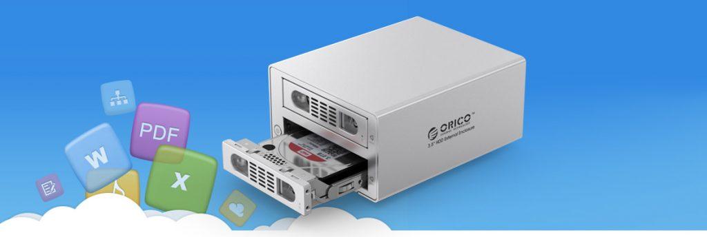 تجهیزات ذخیره سازی تحت شبکه ORICO 3529NAS 2Bay