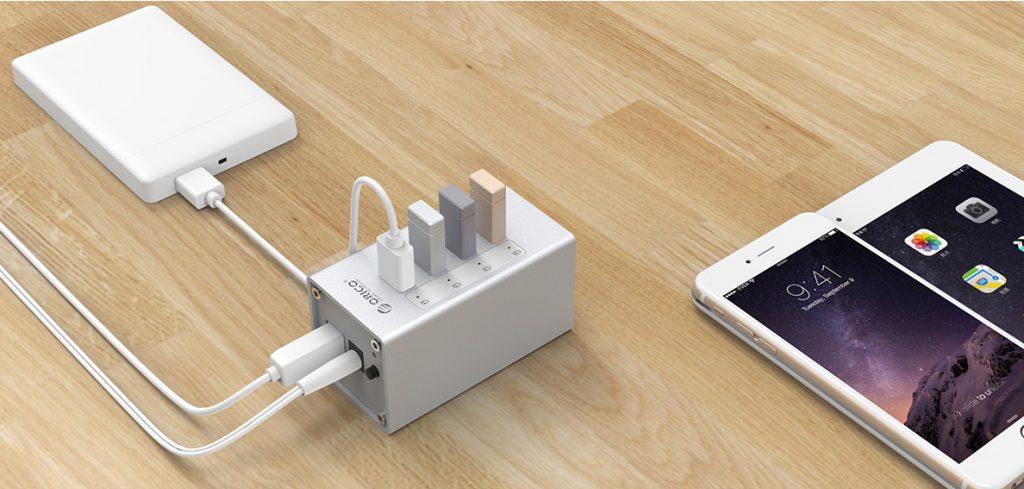 هاب 4 پورت USB 3.0 آلومینیومی