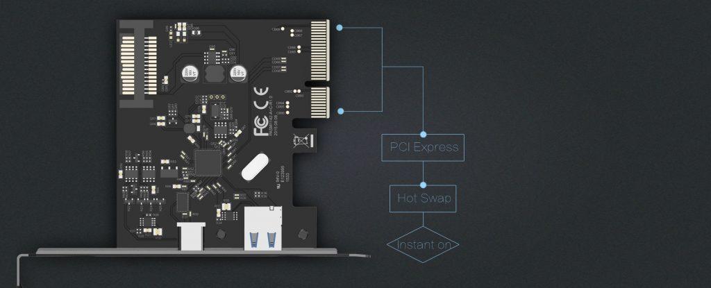 هاب 2 پورت USB 3.1 اینترنال