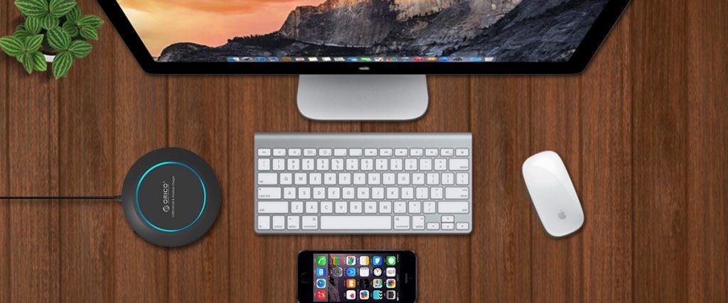 هاب USB 3.0 و شارژر بی سیم