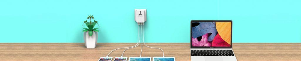 شارژر دیواری به همراه 4 پورت USB