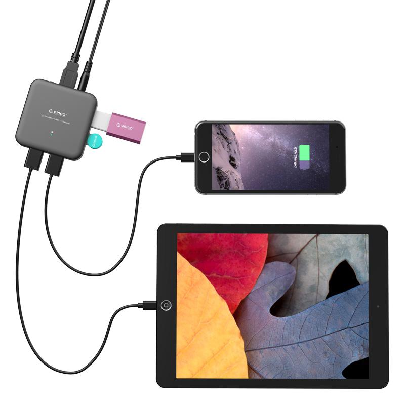 هاب 4 پورت  USB3.0 با شارژر
