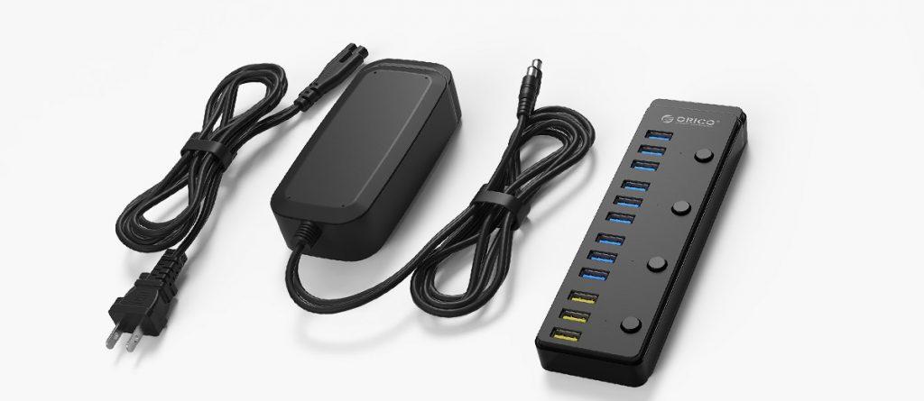هاب USB3.0 با شارژر