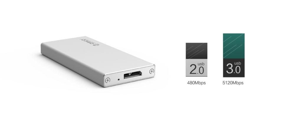 باکس mSATA USB 3.0
