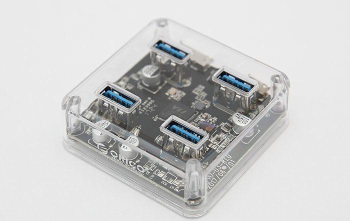 هاب شفاف 4 پورت USB 3.0