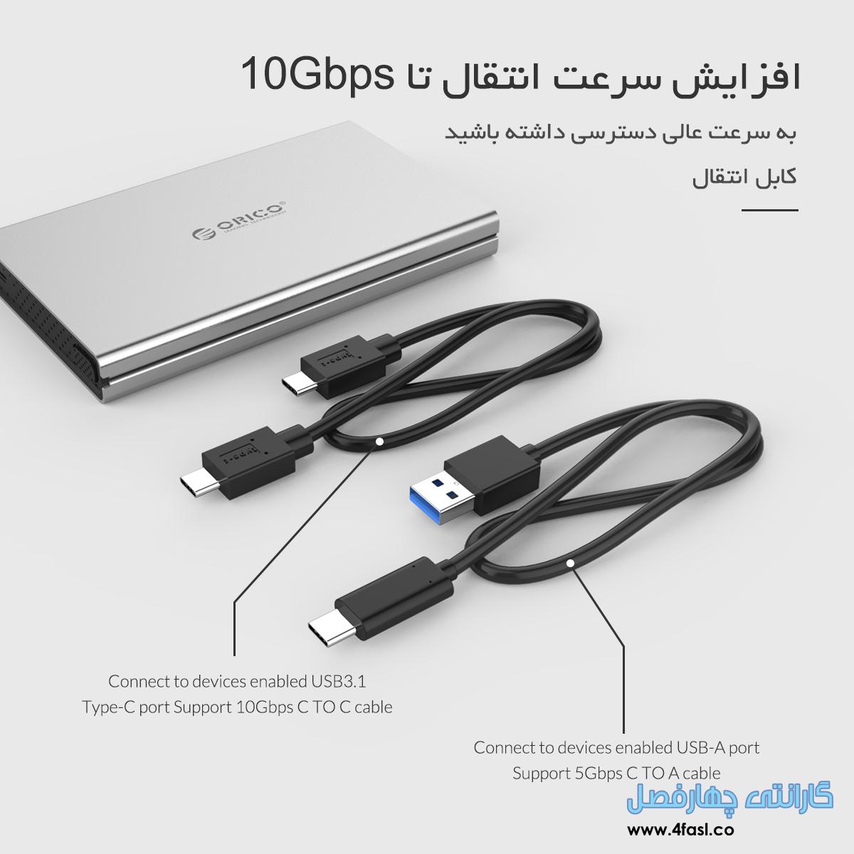 باکس SSD و هارد USB3.1