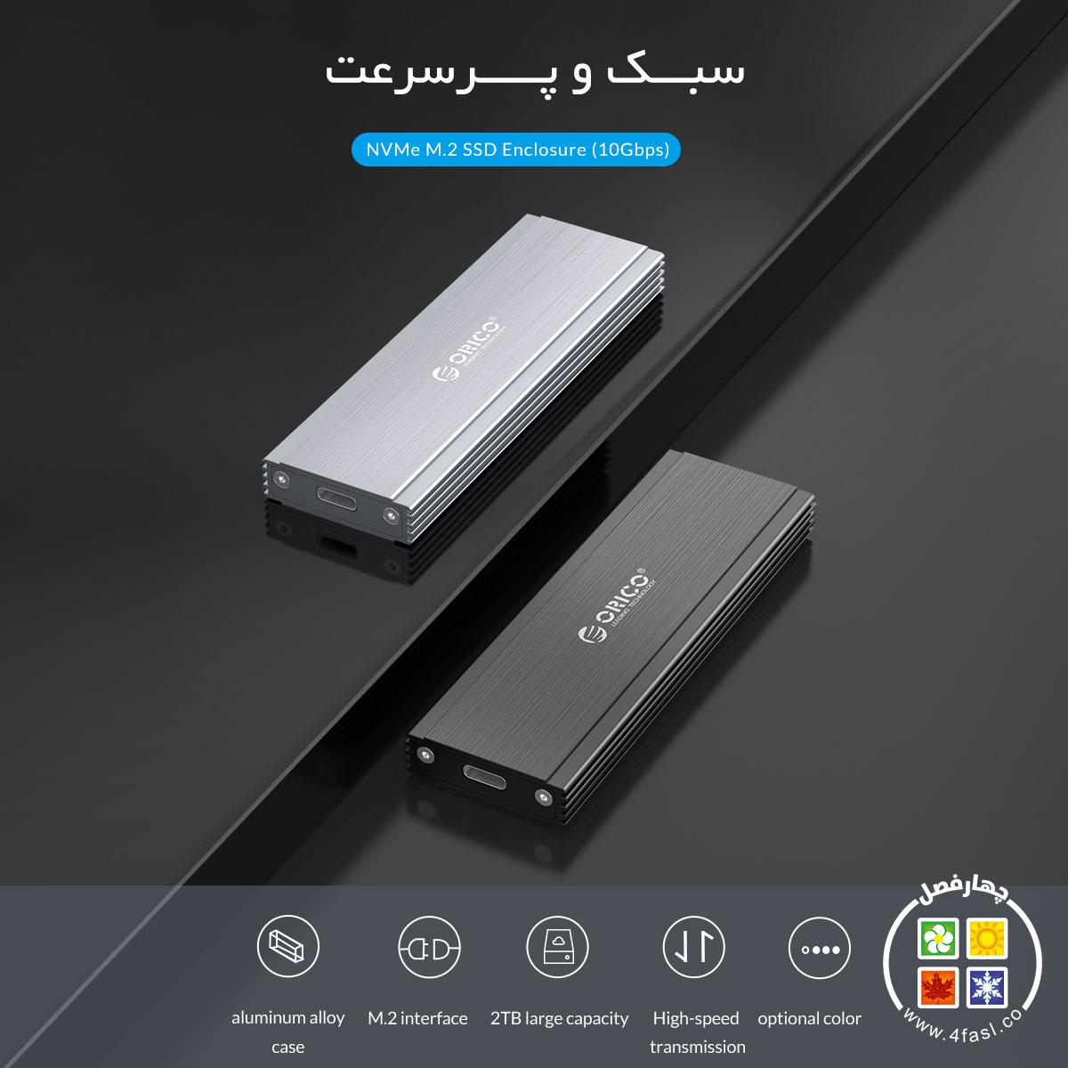 باکس NVMe M.2 SSD