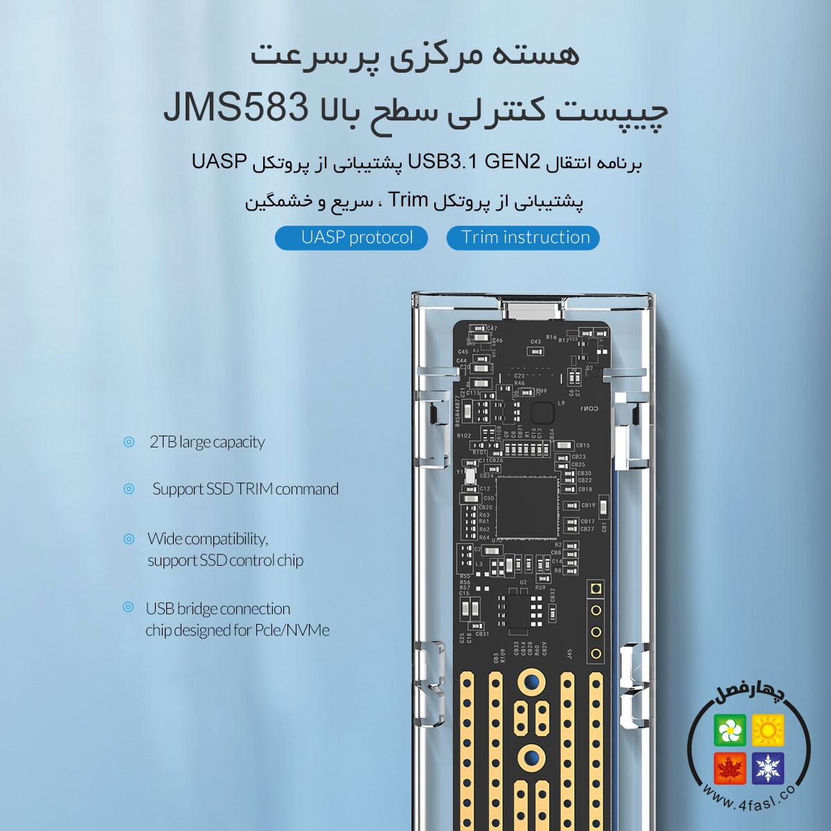 باکس شفاف NVMe M.2